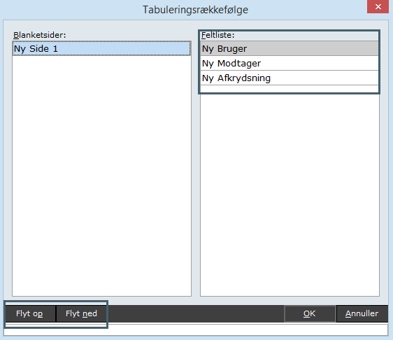 systemmanager - blanket - tabulering